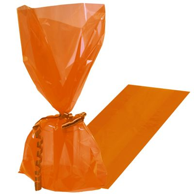 Party Bags Orange Peel Cello Bags - 25 pack