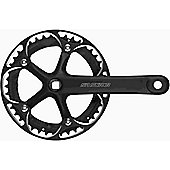 SR Suntour CW-SCSP42-PBG Single Chainset. 42T x 170mm, Alloy Ring, Black Alloy Cranks, With Guard