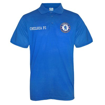 Chelsea FC Mens Polo Shirt Royal Blue Small