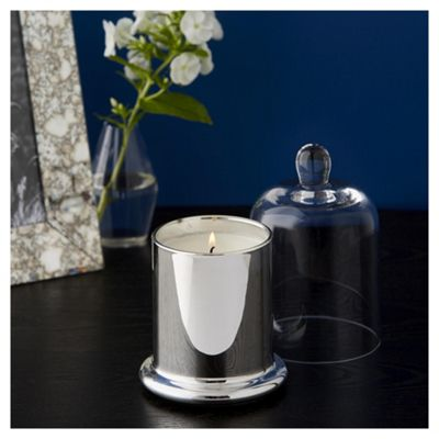 Fox & Ivy Silver And Coconut Luxury Scented Filled Bell Jar Candle
