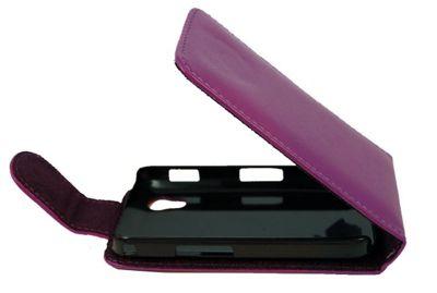 U-bop Neo-ORBIT Leather Case Purple - For Samsung Ace S5830