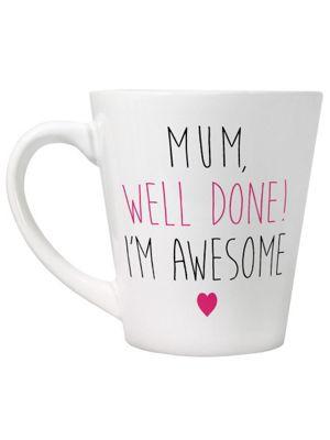 Mum I'm Awesome White Latte Mug