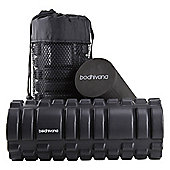 Bodhivana Black 2-in-1 Foam Exercise Roller - Trigger Point, Massage, Myofascial Release