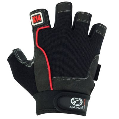 Optimum Techpro X14 Gym Fitness Gloves Black/Red - S