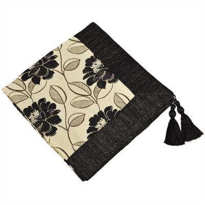Riva Home Mayflower Black Throw - 145x180cm