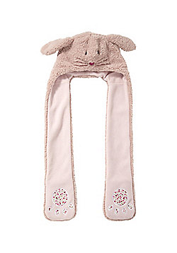 Totes Rabbit Hooded Scarf - Pink