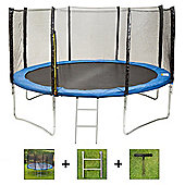 Up and About 14ft Supernova Blue Trampoline Package with Free Ladder and Building Tool
