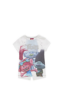 Dreamworks Trolls Glitter Graphic T-Shirt - White