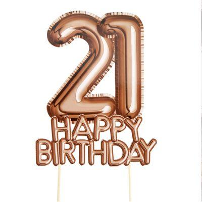 Glitz & Glamour 21st Birthday Cake Topper