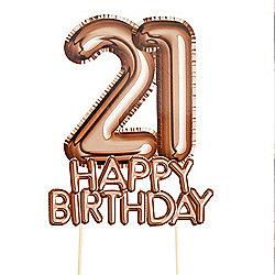 Glitz Glamour 21st Birthday Cake Topper