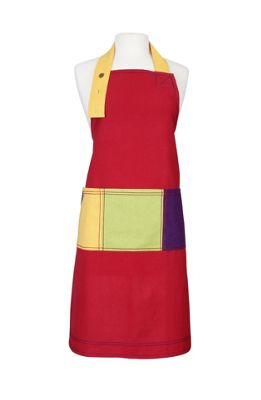 Rushbrookes Paintbox Red Colour Block Apron