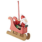 Wooden Sleigh Christmas Tree Decoration