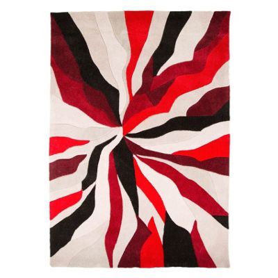 Infinite Splinter Oblong Red Rug - 120X170 cm