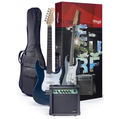 Stagg ESURF 250 TB Electric Guitar Starter Pack in Blue