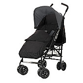 Obaby Atlas Black & Grey Stroller with Black Footmuff - Grey