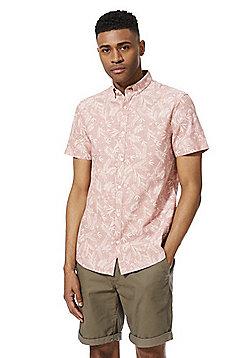 F&F Palm Print Short Sleeve Shirt - Pink