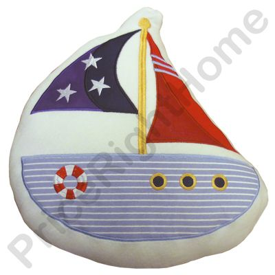 Nautical Boat Shaped Cushion