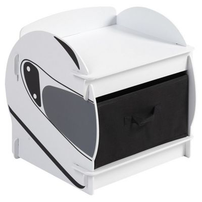 Speed Racer Bedside with black material drawer