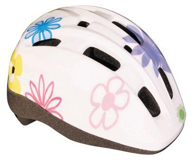 BBB BHE-45 - MiniFlower Kids Helmet (White, 46-52cm)