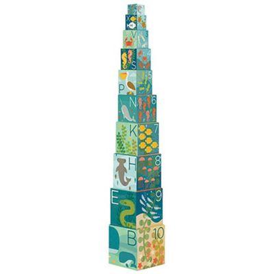 Petit Collage Ocean ABC Nesting Blocks