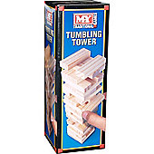 M.Y Traditional Games Mini Tumbling Tower 48 Wooden Pieces