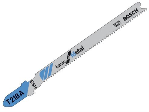 Bosch T218A Jigsaw Blade 1 x Pack of 5 Metal