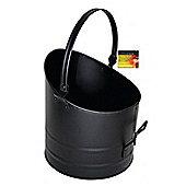 Blackspur Cast Iron Round Coal Bucket Black