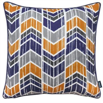 Rocco Chevron Navy Cushion Cover - 43x43cm