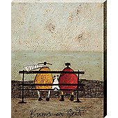 Sam Toft Bums On Seat Canvas Print