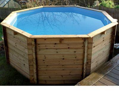 Plastica Octagonal Wooden Fun Pool 10ft x 36