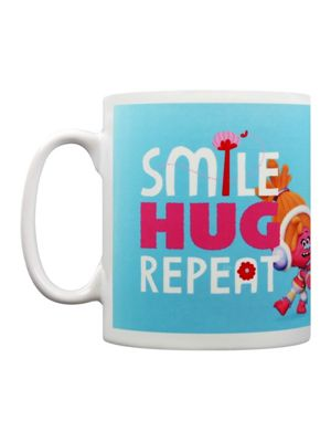 Trolls Smile Hug Repeat 10oz Ceramic Mug
