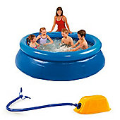 MySplash - 8ft Quick Set Ring Pool With Bestway AirStep Foot Pump
