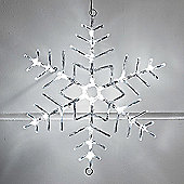 Cool White LED Snowflake Rope Light Silhouette