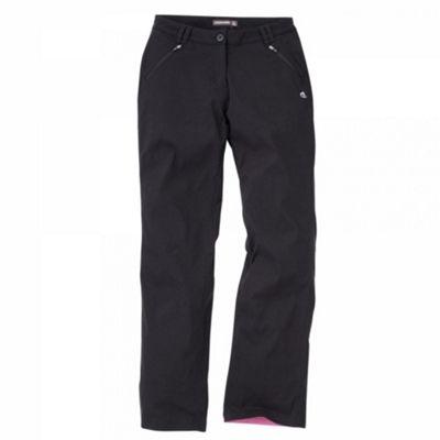 Craghoppers Ladies Kiwi Pro Stretch Winter Lined Trousers Black 14 Short Leg