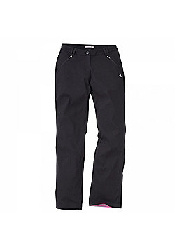 Craghoppers Ladies Kiwi Pro Stretch Winter Lined Trousers - Black