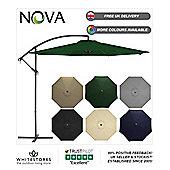 Nova 3m Green Hanging Crank Operated Cantilever Garden Parasol