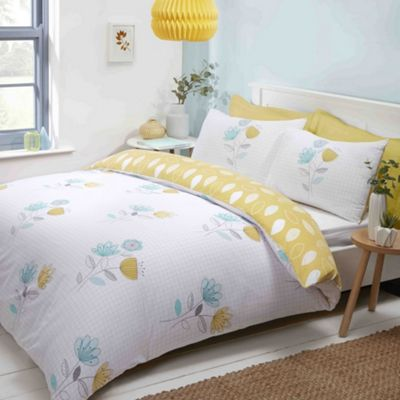 Emeli duvet cover and pillowcase set - duck egg - single