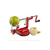 Andrew James 3 in 1 Apple Peeler - Peels - Cores & Slices Fruits & Potatoes - Red