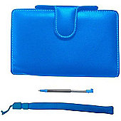 Pair&go Nintendo 3DS Luxury Protector Case Accessory Pack Blue + Stylus + Wrist Strap - Nintendo3DS