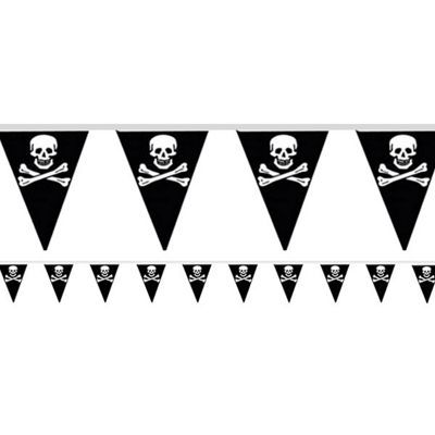 Pirate Bunting - Plastic 4m