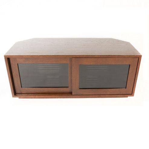 Optimum CORUNA1100 AV Cabinet with Sliding Doors in Warm Oak