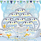 Christening Day Blue Party Pack - Deluxe Pack for 16