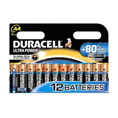 Duracell AA Ultra Power Batteries (Pack of 12)