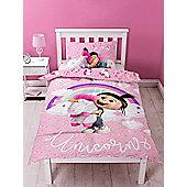 Despicable Me Daydream Fluffy Unicorn Panel Single Duvet Cover Set
