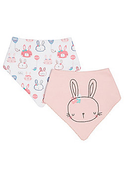 F&F 2 Pack of Bunny Dribble Bibs