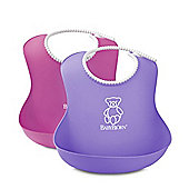 BabyBjorn Soft Bib 2 Pack (Pink/Purple)