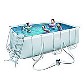 """162"""" x 79"""" x 48"""" Power Steel Rectangular Frame Pool Set"""