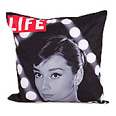 LIFE® Scatter Cushion - Audrey Hepburn In Lights