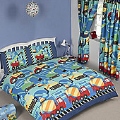 Construction Time Double Duvet Cover and Pillowcase Set