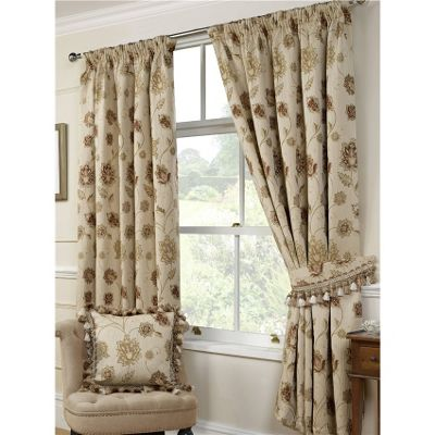 Bologna Pencil Pleat Curtains 229 x 137cm - Natural